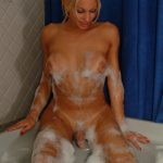 Transexual Model April Take a Bath